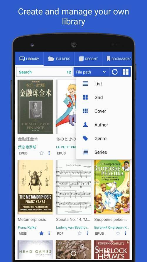 Top-10 of best free PDF and DjVu reader apps for Android